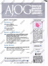 Image of AJOG American Journal of Obstetrics and Gynecology Volume 216 Nomor 4 April 2017