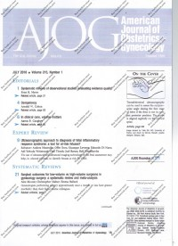 Image of AJOG American Journal of Obstetrics &  Gynecology Volume 215 Number 1 July 2016