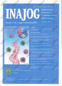 Image of INAJOG International journal Of Obstetrics and Gynecology Volume 5 Nomor 1 Page 1-64 January 2017