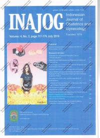 Image of INAJOG International Journal Of Obstetric and Gynecology Volume 4 Page 117-176 July 2016