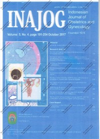 Image of INAJOG International Journal of Obstetric and Gynecology Volume 5 Nomor 4 page 191-254 October 2017